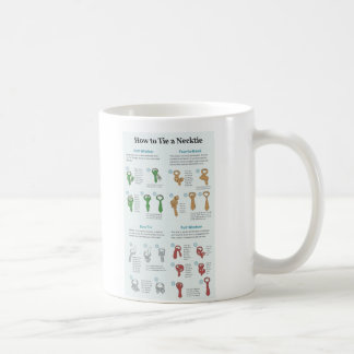Explanation Chart of How to Tie a Necktie Classic White Coffee Mug