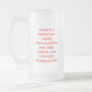 EXPLANATION FROSTED GLASS BEER MUG