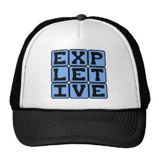Expletive, Foul Language Mesh Hats