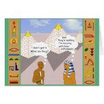 Explicación de las pirámides tarjeta de felicitación