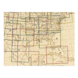 Explicación del mapa de índice de las muestras usa postales