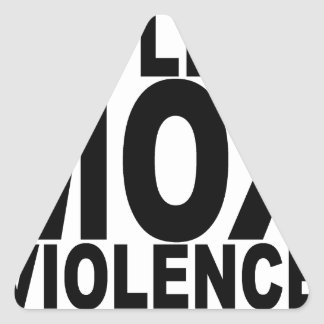 EXPLICIT MOX VIOLENCE T-Shirts.png Triangle Sticker