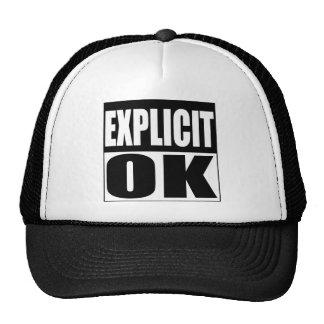 Explicit OK warning label Hat