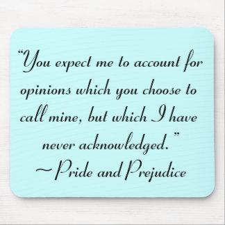 Explique la cita de Jane Austen de las opiniones Mouse Pads