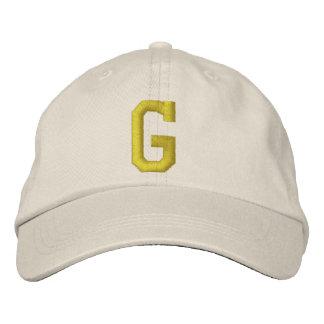 Expliqúelo casquillo de la bola de G de la letra i Gorra De Béisbol