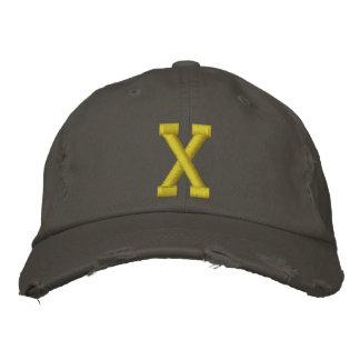 Expliqúelo casquillo de la bola de la letra inicia gorras de béisbol bordadas