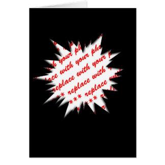 EXPLODE Template Photo Frame (Black) Greeting Card