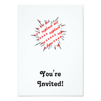 EXPLODE Template Photo Frame 5x7 Paper Invitation Card