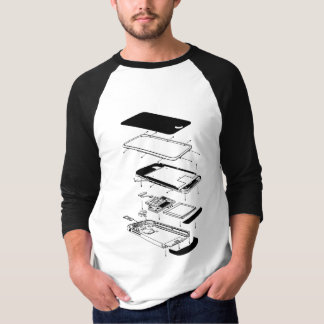 Exploded 3GS Phone T Shirt