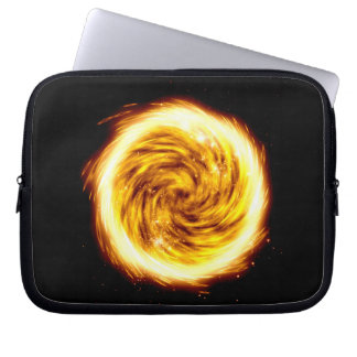 Exploded hot fire orb Laptop Sleeves