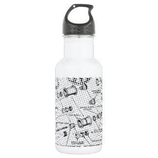 Exploded Hub Diagram (black/white) Water Bottle