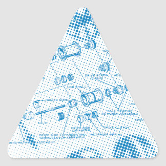 Exploded Hub Diagram (blue) Triangle Sticker