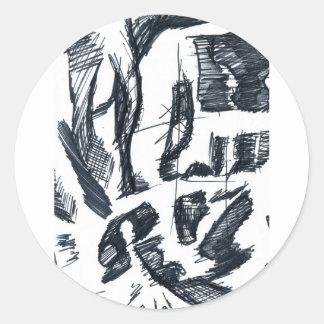 explodetheenegativeskull classic round sticker