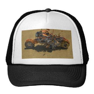 exploding bike trucker hat