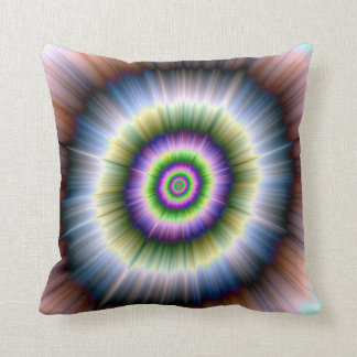 Exploding Blue Green and Pink Throw Pillow
