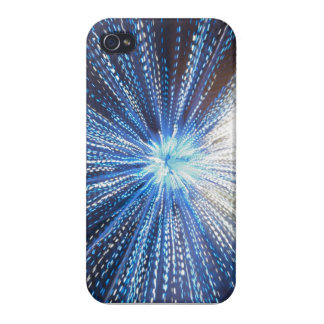 Exploding Blue Light iPhone Case