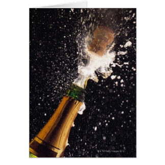 Exploding champagne bottle card