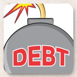 Exploding Debt Bomb Cartoon Coaster