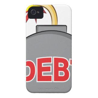Exploding Debt Bomb Cartoon iPhone 4 Case