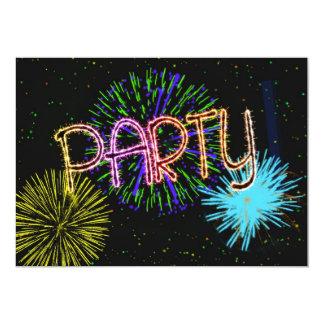 Exploding fireworks party invitation