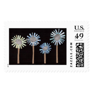 Exploding Flowers Stamps