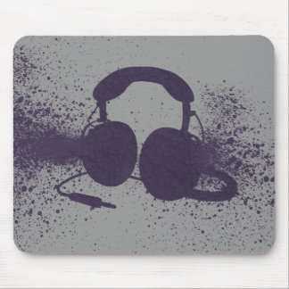 Exploding Headphones Mouse Pad