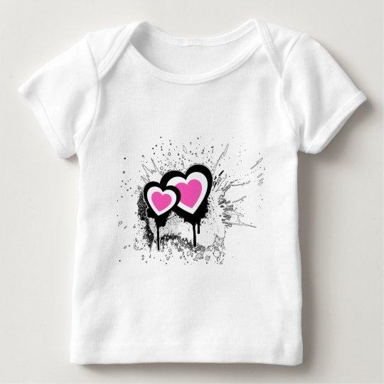 Exploding Hearts Emo Alternative Grunge Rock Punk Baby T-Shirt