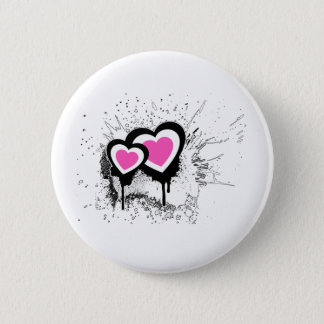 Exploding Hearts Emo Alternative Grunge Rock Punk Button
