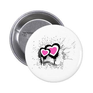 Exploding Hearts Emo Alternative Grunge Rock Punk Pinback Button