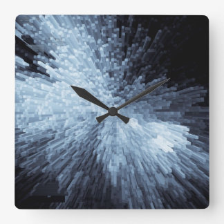 Exploding Ice Square Wall Clock