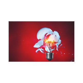 Exploding Light bulb Canvas Print