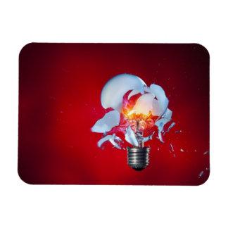 Exploding Light Bulb Rectangular Magnet