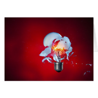 Exploding Lightbulb Card