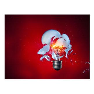 Exploding Lightbulb Post Cards
