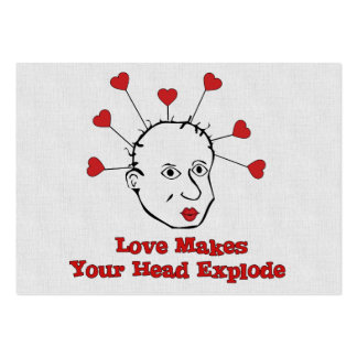 Exploding Love Head Large Business Cards (Pack Of 100)