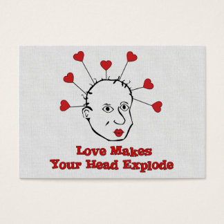 Exploding Love Head Business Card