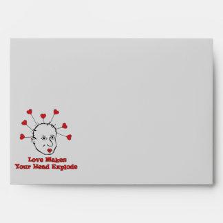 Exploding Love Head Envelopes