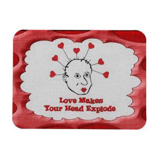 Exploding Love Head Magnet