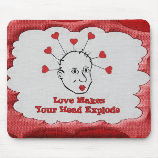 Exploding Love Head Mousepads