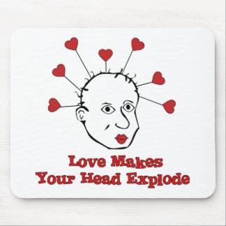 Exploding Love Head Mouse Pads