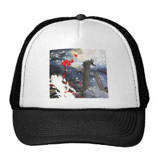Exploding matchsticks trucker hat