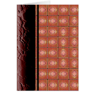 Exploding Planet Grid Greeting Card