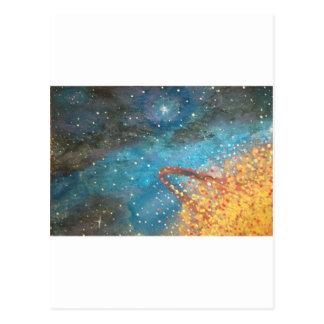 Exploding Planet Postcard