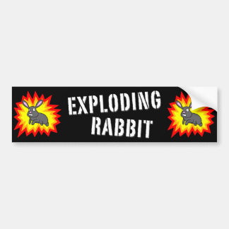Exploding Rabbit Bumper Sticker