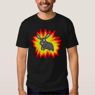 Exploding Rabbit Dark Shirt