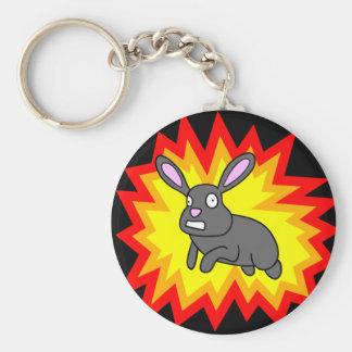 Exploding Rabbit Keychain