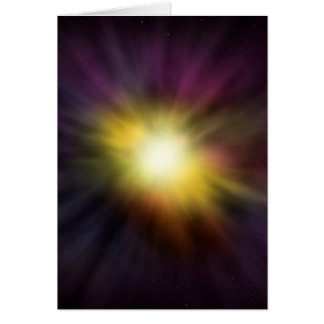 Exploding Star Cool Digital Space Artwork Card