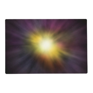 Exploding Star Cool Digital Space Artwork Placemat