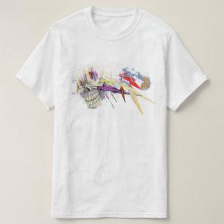 Exploding Storm-Cloud Skull original artwork T-Shirt