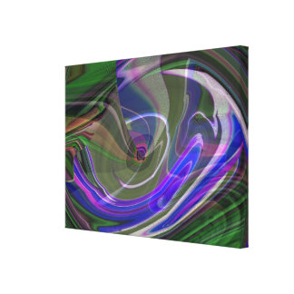 Exploding Universe Abstract III Wrapped Canvas Canvas Print
